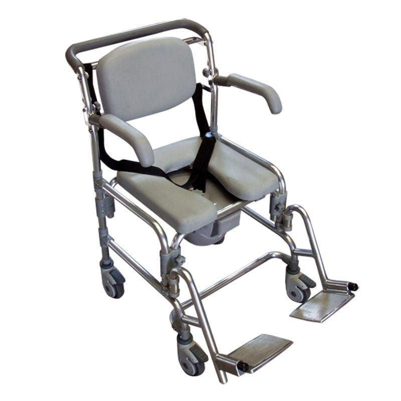 Sedia da Doccia con Comoda in Alluminio - Sanitas Shop